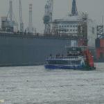 Elbmeile (2005) 006 am 17.1.2009 im Eis auf der Norderelbe
