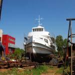 Stadersand in der Werft in Finkenwerder