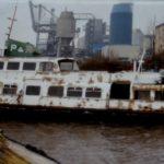 """""""Stadersand"""" 1991 in Schnalles Hafen"""