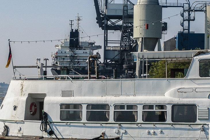 In Hamburg wurden sie kaum genutzt: Die Zugänge an den Oberdecks der Typschiffe