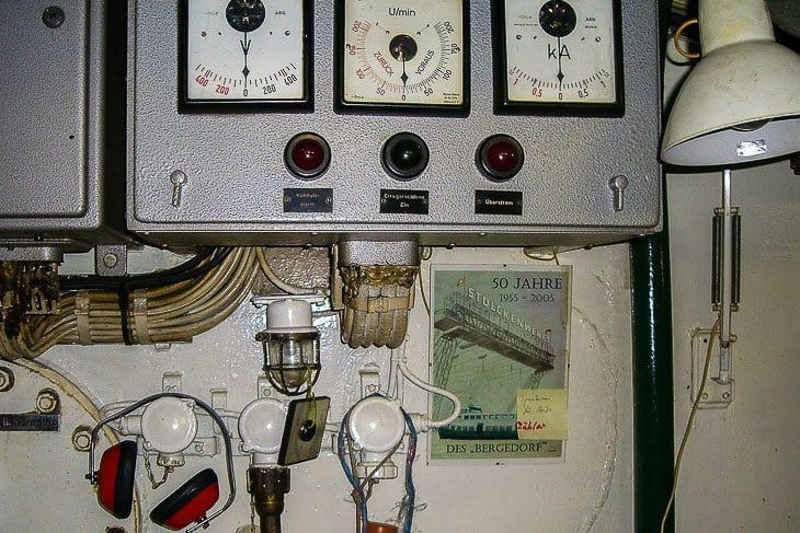 Maschinenraum der HADAG-Fähre BERGEDORF