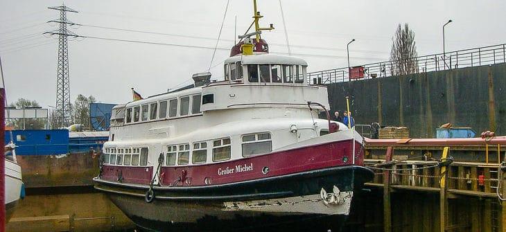 Die ehemalige HADAG-Hafenfähre GROSSER MICHEL im Dock