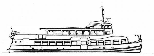 Skizze: HADAG-Fähre ALTONA (Typ III b)