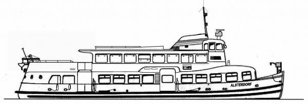Skizze: HADAG-Fähre ALSTERDORF (Typ III b)