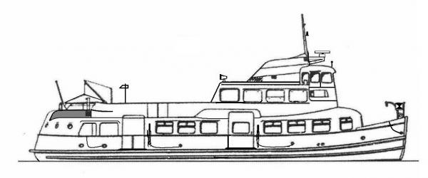 Skizze: HADAG-Fähre BLANKENESE (Typ II)