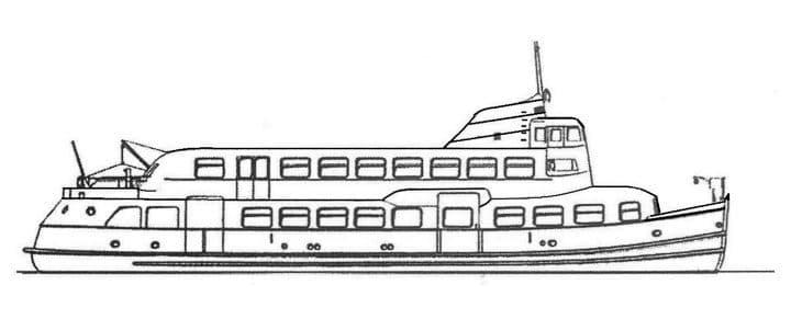 Skizze: HADAG-Fähre FINKENWERDER (Typ III)