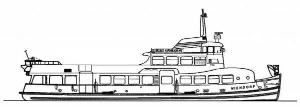 Skizze: HADAG-Fähre NIENDORF (Typ III c)
