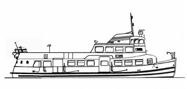 Skizze: HADAG-Fähre SCHULAU (Typ II)