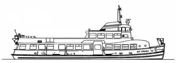 Skizze: HADAG-Fähre ST. PAULI (Typ III c)