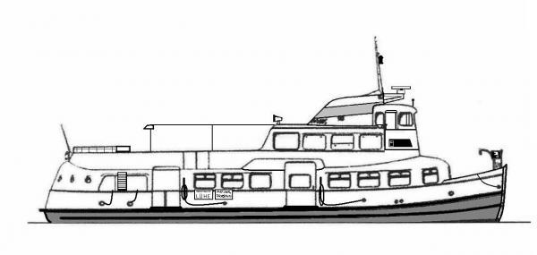 Skizze: HADAG-Fähre STEINKIRCHEN (Typ II R)