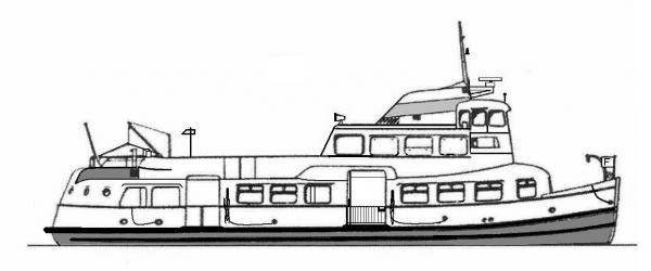 Skizze: HADAG-Fähre VIERLANDEN (Typ II)