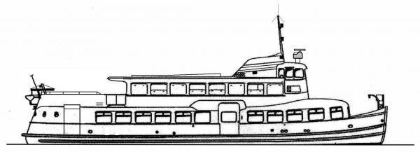 Skizze: HADAG-Fähre JUNGFERNSTIEG (Typ III b)
