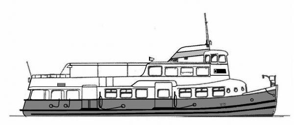 Skizze: HADAG-Fähre OTTENSEN (Typ II U)