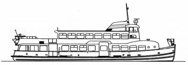 Skizze: HADAG-Fähre POESELDORF (Typ III c)