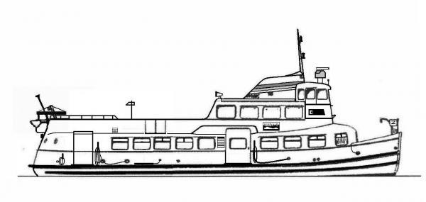 Skizze: HADAG-Fähre REEPERBAHN (Typ II)