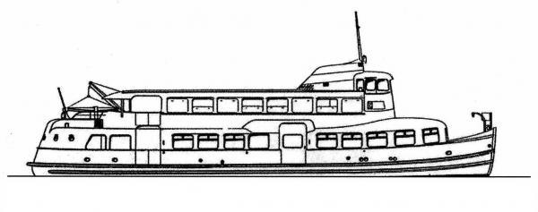 Skizze: HADAG-Fähre VOLKSDORF (Typ III b)