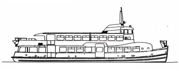Skizze: HADAG-Fähre WOHLDORF (Typ III c)
