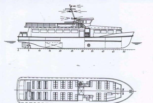 Bauplan: HADAG-Hafenfähre WOLFGANG BORCHERT