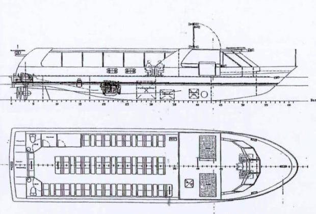 Bauplan: HADAG-Hafenfähre NALA