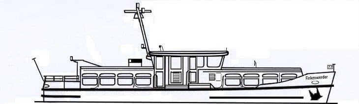 Die HADAG-Hafenfähre FINKENWERDER im Bauzustand von 1989 (Copyright: Michael Brinkmann)