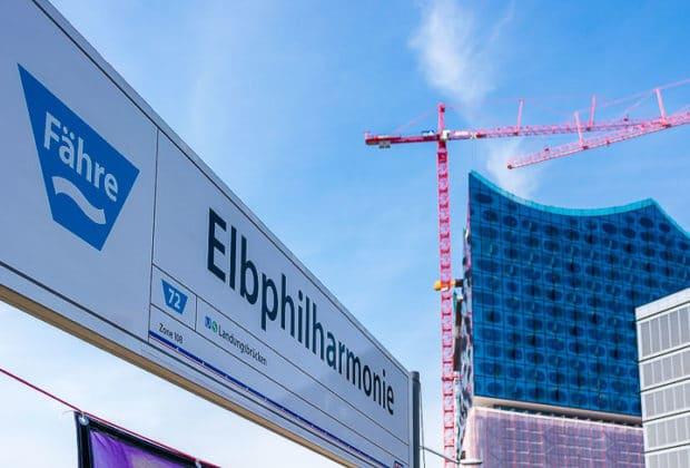 HADAG-Anleger an der Elbphilharmonie in Hamburg