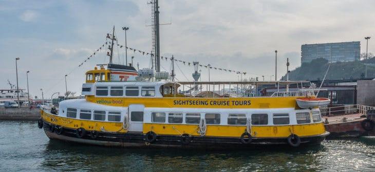 Die ehemalige HADAG-Hafenfähre SSÜLLDORF in 2017 in Lissabon
