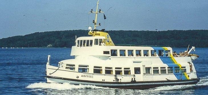 Die ehemalige HADAG-Hafenfähre ST. PAULI als ALBATROSS II auf der Flensburger Förde