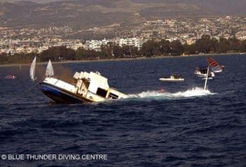 Die ehemalige HADAG-Hafenfähre ALTONA wurde 2014 vor Zypern versenkt
