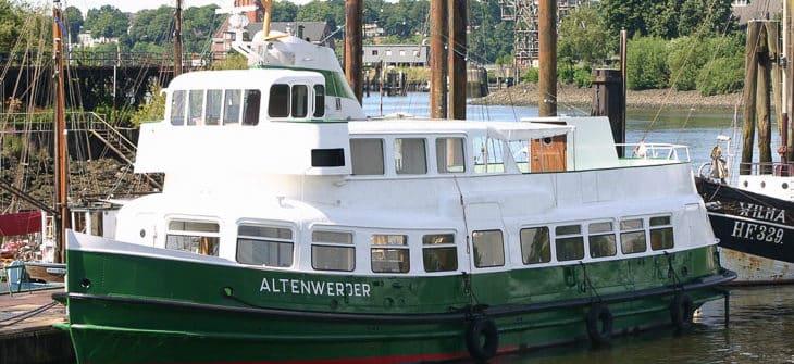 Ex-HADAG-Hafenfähre ALTENWERDER in Finkenwerder
