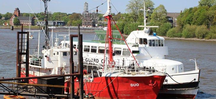 Die ehemalige HADAG-Hafenfähre WOHLDORF am 08.05.2016